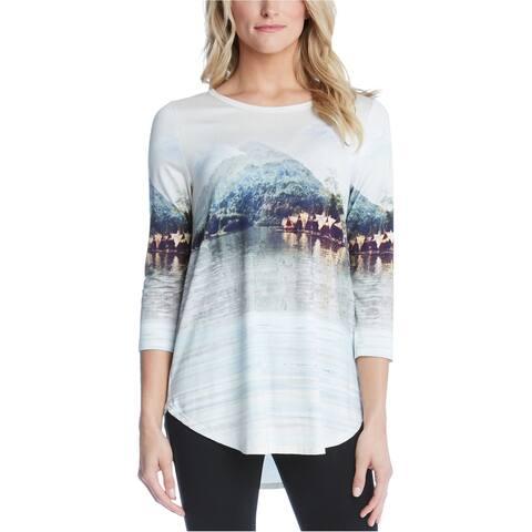 Karen Kane Womens Tahitian Tropics Graphic T-Shirt, Multicoloured, X-Small