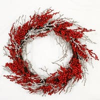 Red Berry with Ice Wreath