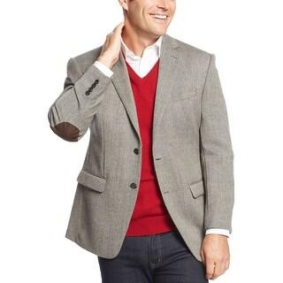 Ralph Lauren Black and Tan Wool Herringbone Sportcoat Blazer 42 Short 42S