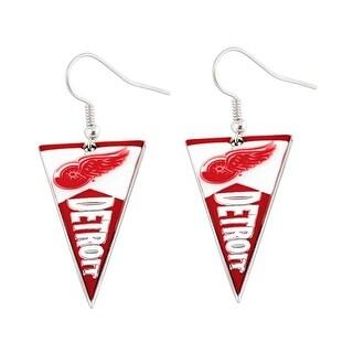 Detroit Red Wings NHL Pennant Earring