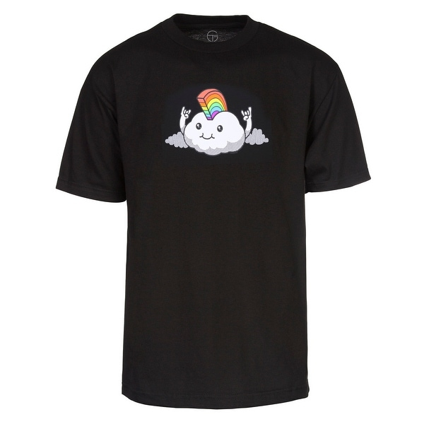 Mens Rockin' Rainbow Cloud Short-Sleeve T-Shirt