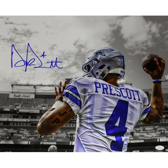 686651a77dd Shop Dak Prescott Autographed Dallas Cowboys 16x20 Photo Spotlight JSA - Free  Shipping Today - Overstock - 19547385