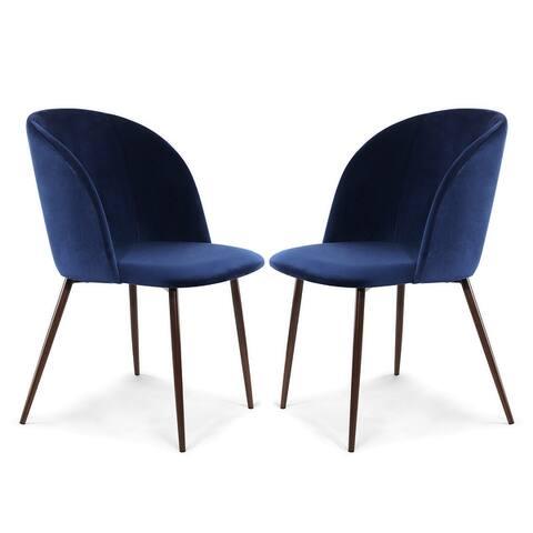 EdgeMod Kantwell Velvet Dining Chair (Set of 2)