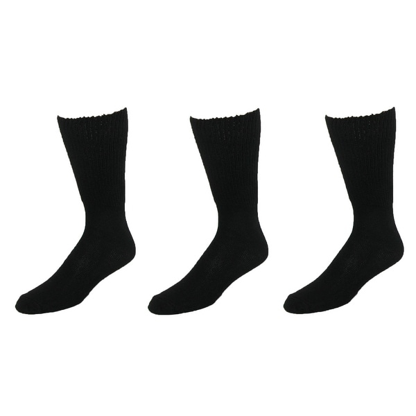 Extra Wide Sock Co. Men's Cotton Wide Big and Tall Tube Socks (Pack of 3)