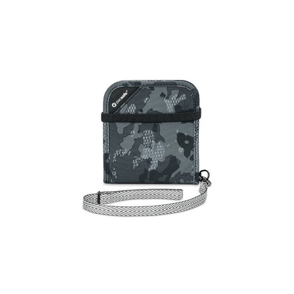 Pacsafe 10556802-Grey Camo Anti-Theft RFIDsafe V100 Blocking Bi-Fold Wallet