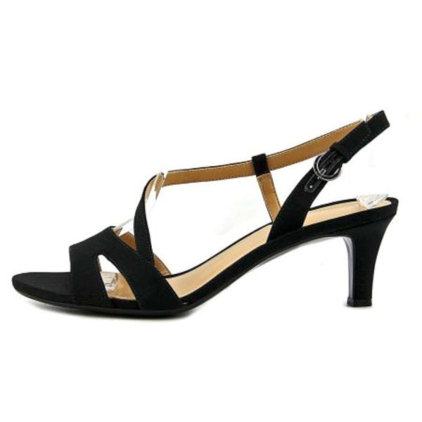 Naturalizer Womens Harmony Fabric Open Toe Casual Slingback Sandals