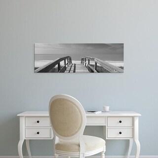 Easy Art Prints Panoramic Images's 'Boardwalk on the beach, Gasparilla Island, Florida, USA' Premium Canvas Art