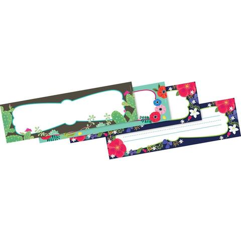 """Petals & Prickles Double-Sided Name Plates, 12"""" x 3-1/2"""", Pack of 36 - One Size"""