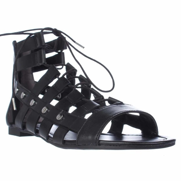 B35 Reese Lace Up Gladiator Sandals, Black