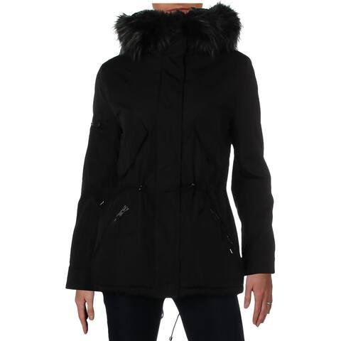 Aqua Womens Canyon Parka Coat Winter Hooded