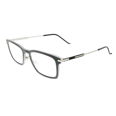 DIOR HOMME AL13.10O Silver Black Rectangle Eyeglasses - 53-20-155
