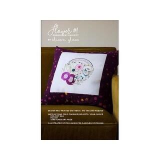 Alison Glass Design Flower #1 Embroidery PanelPtrn