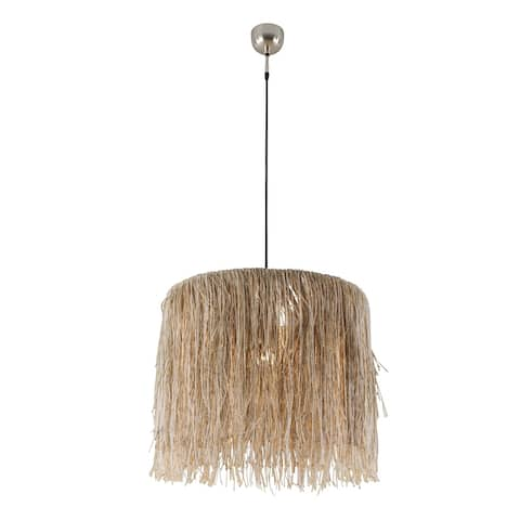 Bali Boho Large Jute Hanging Pendant Light