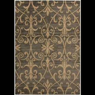 2' x 3.5' Heart of the Vineyard Pristine Gold, Dark Forest and Emerald Ash Green Area Throw Rug