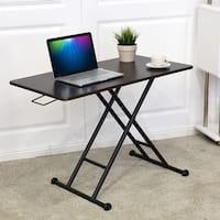 Costway Height Adjustable Standing Desk Converter Sit-Stand Computer Laptop Workstation