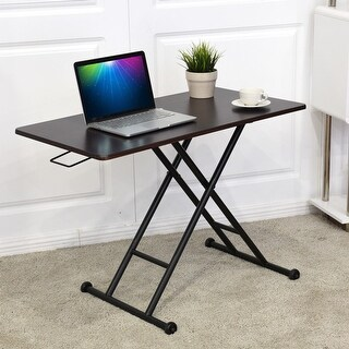 Costway Height Adjustable Standing Desk Converter Sit-Stand Computer Laptop Workstation