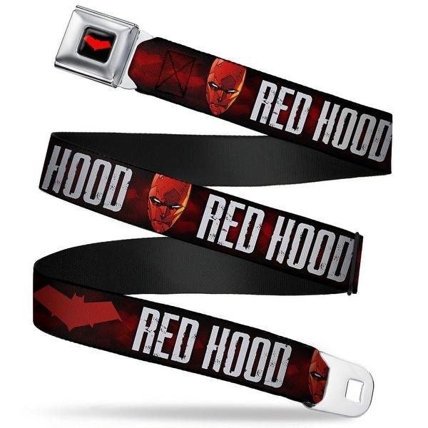 Red Hood Logo Full Color Black Red Hood Face Logo Weathered Black Reds Seatbelt Belt