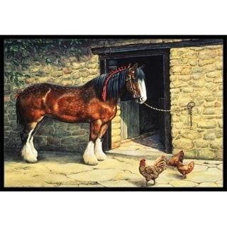 Carolines Treasures BDBA0087MAT Horse & Chickens by Daphne Baxter Indoor or Outdoor Mat 18 x 27