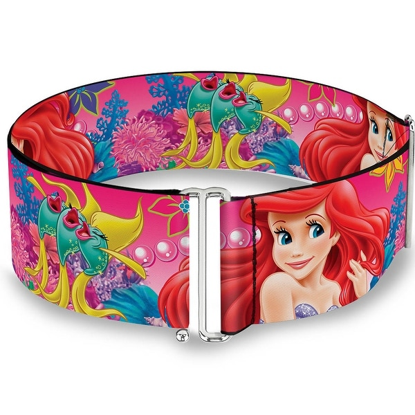 Ariel Flounder Fish Trio Poses Pinks Cinch Waist Belt ONE SIZE