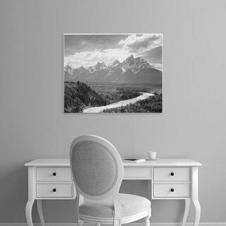 Easy Art Prints Ansel Adams's 'Grand Teton National Park' Premium Canvas Art