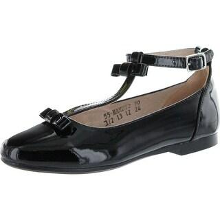Venettini Girls Mandy 2 Dress T Strap Flats With Bow