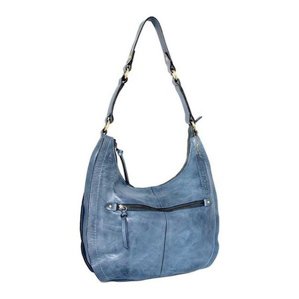 d2a61b8a1534 Shop Nino Bossi Women s Delina Leather Hobo Handbag Denim - US Women s One  Size (Size None) - Free Shipping Today - Overstock.com - 19437630