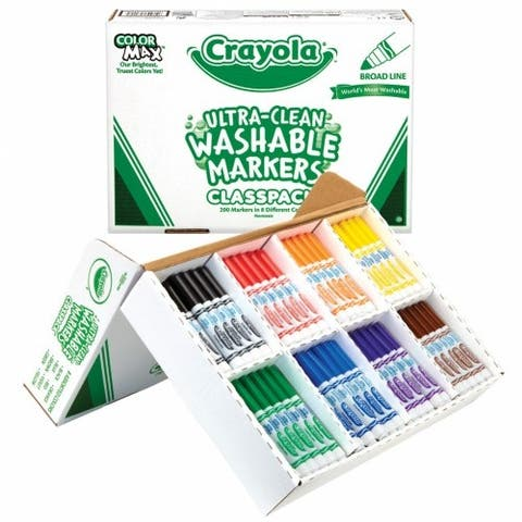 Crayola Classic Colors Washable Markers Classpack - 200 count, 8 colors