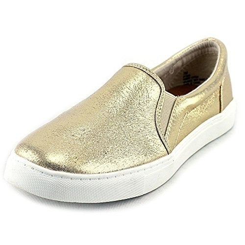 143 Girl Olla Women Round Toe Canvas Gold Sneakers