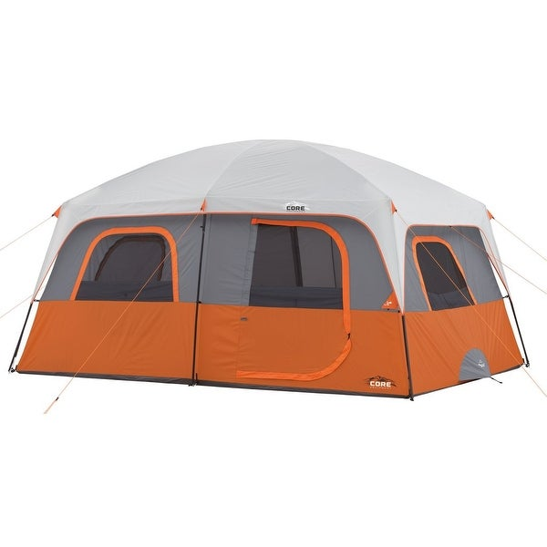Shop Core 10 Person Straight Wall Cabin Tent Free