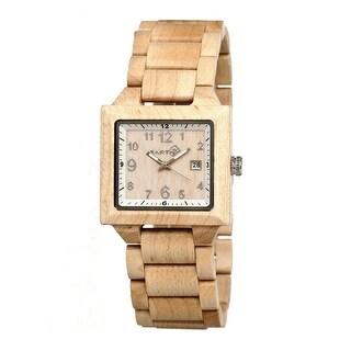 Earth Wood Culm Unisex Quartz Watch, Wood Band, Luminous Hands