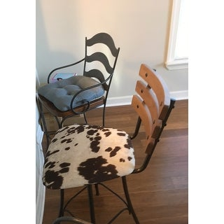 Carbon Loft Kettering Swivel Metal and Wood Counter Stool