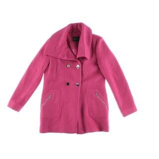 Jessica Simpson Womens Woven Long Sleeves Pea Coat - M