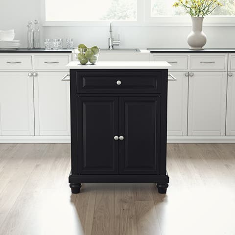 "Cambridge Granite Top Portable Kitchen Island/Cart - 31""W x 18""D x 35""H"