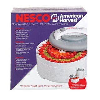 Nesco FD-61 Snackmaster Encore Food Dehydrator, 500 watts, Gray & White