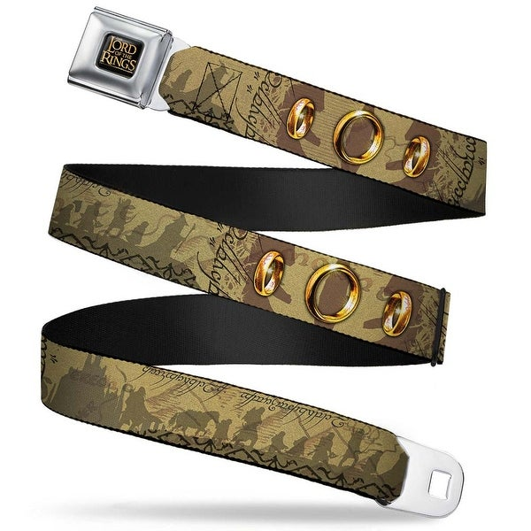 The Lord Of The Rings Full Color Black Gold Fellowship Of The Rings Seatbelt Belt