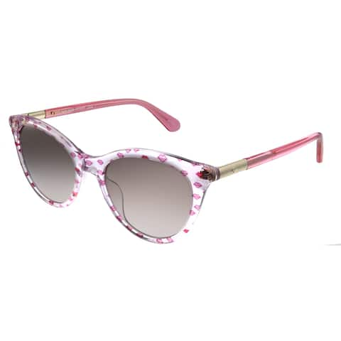 Kate Spade KS Janalynn OBL HA Womens Pink Frame Brown Gradient Lens Sunglasses