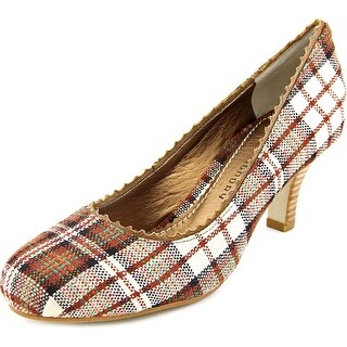 Chinese Laundry Porta Women Round Toe Canvas Multi Color Heels