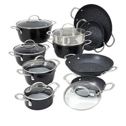 Curtis Stone Dura-Pan Nonstick 16-piece Nesting Cookware Set