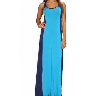 Michael Stars NEW Blue Colorblocked Women Size Medium M Maxi Dress