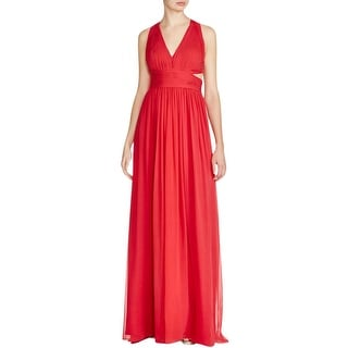 Aidan Mattox Womens Formal Dress Silk Cut-Out