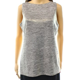 INC NEW Solid Gold Women's Size Large L Shimmer Boat Neck Tank Blouse