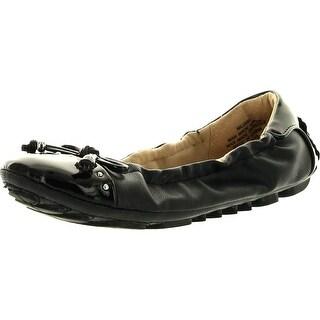 Nine West Girls Jana Fashion Flats Shoes - black patent pu - 1.5 m us little kid