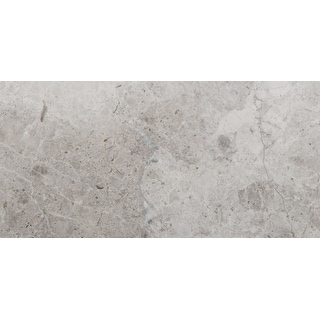 """Emser Tile M06MARB1632  Marble - 16"""" x 32"""" Rectangle Floor and Wall Tile - Polished Marble Visual - Silver"""