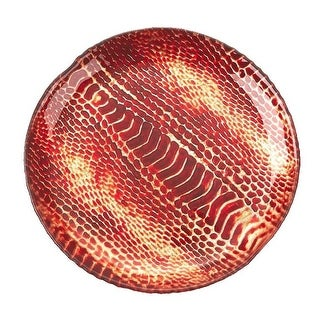 Red Pomegranate 2236-4 Snakeskin 6.5 in. Coral Plate - Set of 4