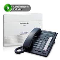 """Panasonic KX-TA824-7730B (8 pack) Advanced Hybrid Telephone / Intercom System plus 8 Hybrid Phones KX-T7730"""