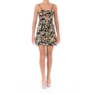Material Girl Womens Juniors Printed Cut-Out Sundress - S