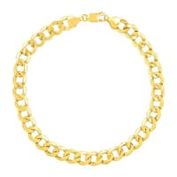 Eternity Gold Men's Beveled Link Bracelet in 10K Gold