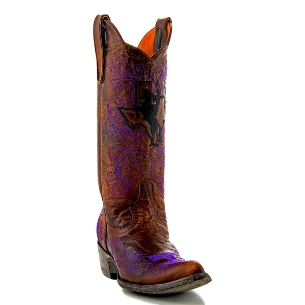 Gameday Boots Womens College Team Tarleton State Brass