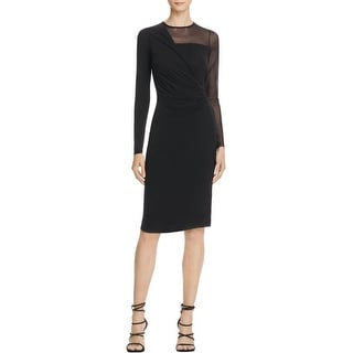 Bailey 44 Womens Rebellious Cocktail Dress Mesh Long Sleeves