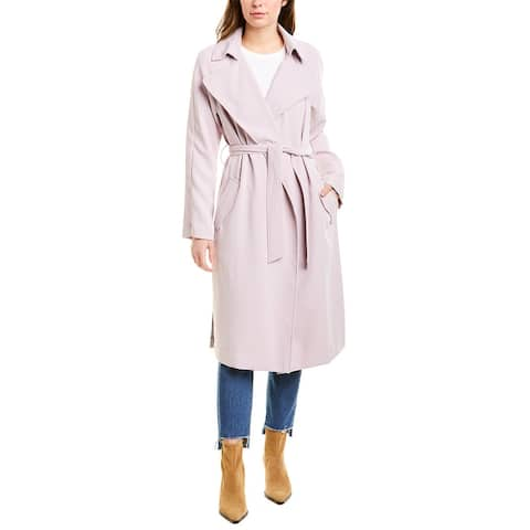 Kendall + Kylie Crepe Trench Coat